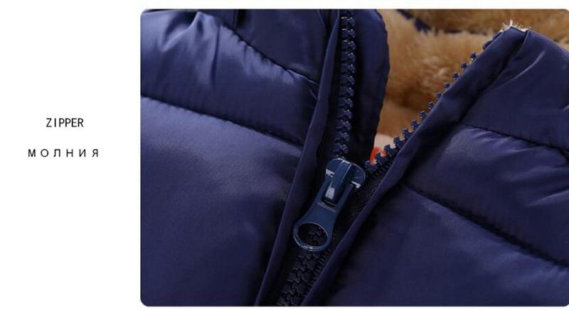CROAL CHERIE Children's Parkas Winter Jacket For Girl Boys Winter Coat Kids Warm Thick Velvet Hooded Baby Coats Outerwear  (12)