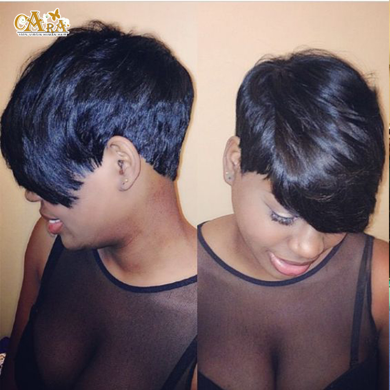 Astonishing Aliexpress Com Buy 27 Pieces Short Human Hair Weave With Free Hairstyle Inspiration Daily Dogsangcom