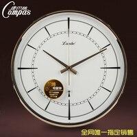 Radio controlled clock personalized mute wall clock modern clock fashion brief Large clocks
