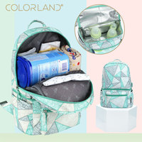 Colorland multifunctional back milk bag mother and baby double shoulder insulation mommy new diaper