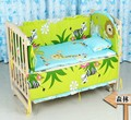 Promotion! 10PCS Forest baby bedding sets 100% cotton quilt jogo de cama bebe baby crib bedding set(bumper+matress+pillow+duvet)