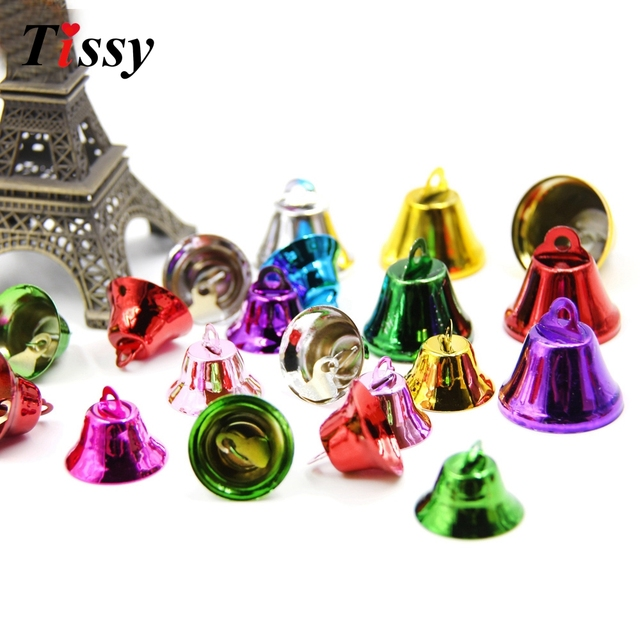 20pcs metal jingle bells loose beads christmas bells festival party decorationchristmas tree decorations