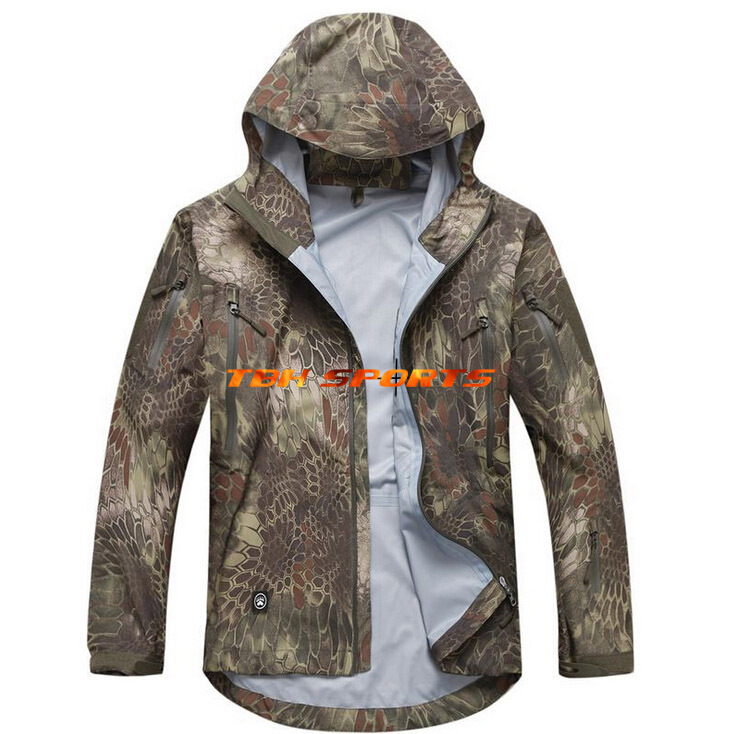 Tactical Gear Shooter Hardshell Jacket Outdoor Jacket In Kryptek Mandrake Hunting Jacket+Free shipping(SKU12050385) купить