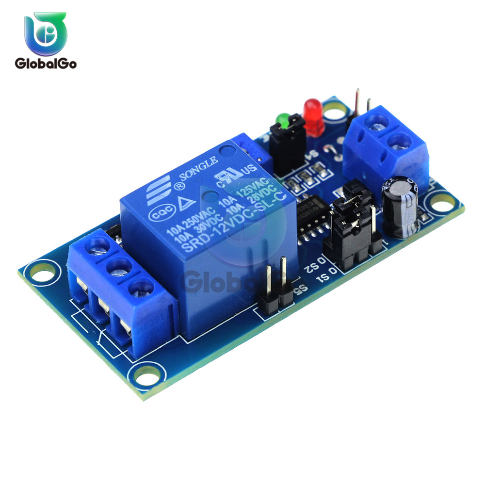 DC 12V Delay Relay Delay Turn On / Delay Turn Off Switch Module with Timer Switch Control dispensador de cereal peru
