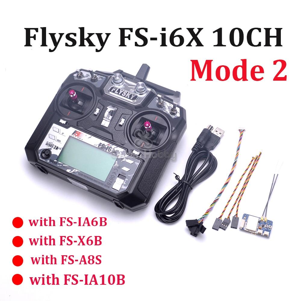 2.4 GHz Flysky FS i6X FS I6X 10CH RC Trasmettitore Con i BUS IA6B X6B A8S IA10B Ricevitore Per RC modalità di Quadcopter Multicopter 2-in Componenti e accessori da Giocattoli e hobby su  Gruppo 1