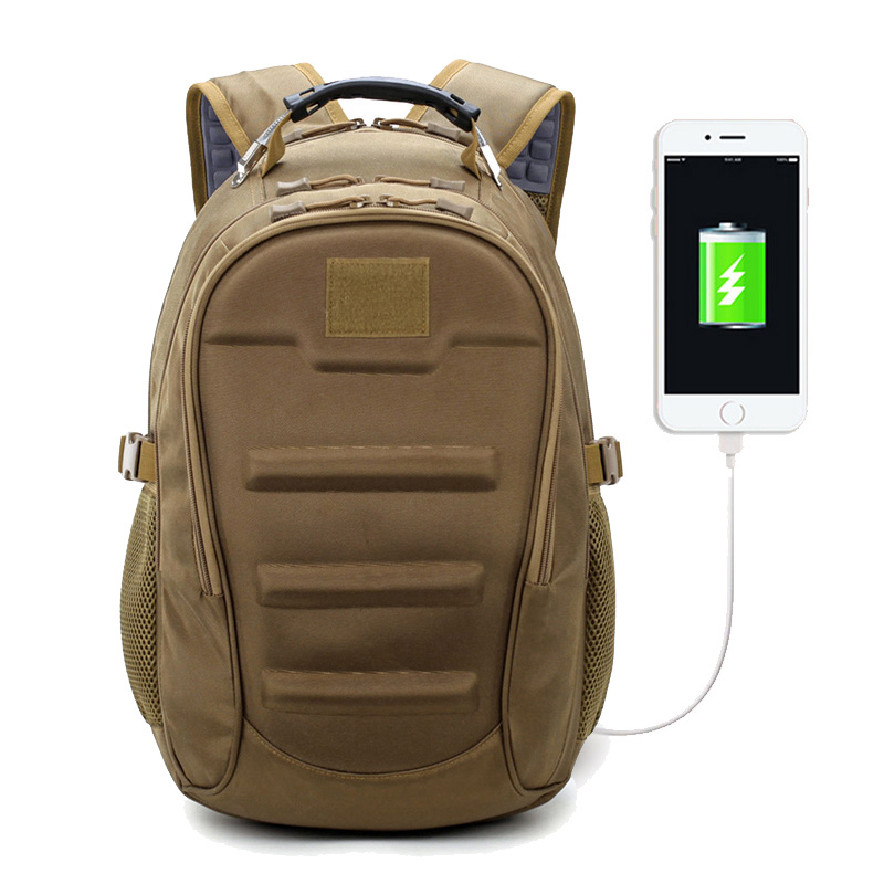 Tactical Backpack 35L Muti function External USB Charging Computer Laptop Bags Outdoor Waterproof Climbing Travel Rucksack in Climbing Bags from Sports Entertainment