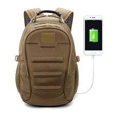 Tactical Backpack 35L Muti-function External USB Charging Computer Laptop Bags Outdoor Waterproof Climbing Travel Rucksack