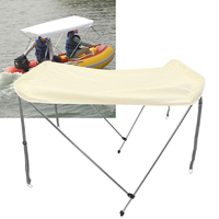 Foldable Anti UV Fishing Rubber Inflatable Top Boat Cover Tent Sun Rain Shelter Sunshine Protection Boats Accessories