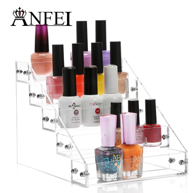 ANFEI 5 layers Nail Polish Box Jewelry Organizer Rack Acrylic