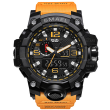 Male Fashion Sport Military Wristwatches 2018 New SMAEL Watches Men Luxury Brand 5ATM 50m Dive LED Digital Analog Quartz Watches