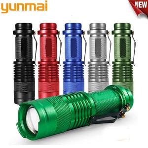 Image 2 - Портативный светодиодный мини фонарик Q5, 2000 лм, водонепроницаемый светодиодный фонарик 5 цветов, 1 режим, масштабируемый светодиодный фонарь, фонарик AA 14500