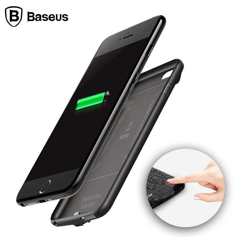 imágenes para De BASEUS Caso Del Cargador Para el iphone 6 6 S 2500 mAh Caso del Banco de Potencia Paquete de Batería de Reserva externo Para el iphone 6/6 s Plus 3650 220mahh