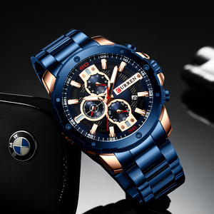 Image 4 - CURREN Männer Uhr Top Marke Edelstahl Herren Uhren Chronograph Quarzuhr Männer Sport Uhr Relogio Masculino Reloj Hombr
