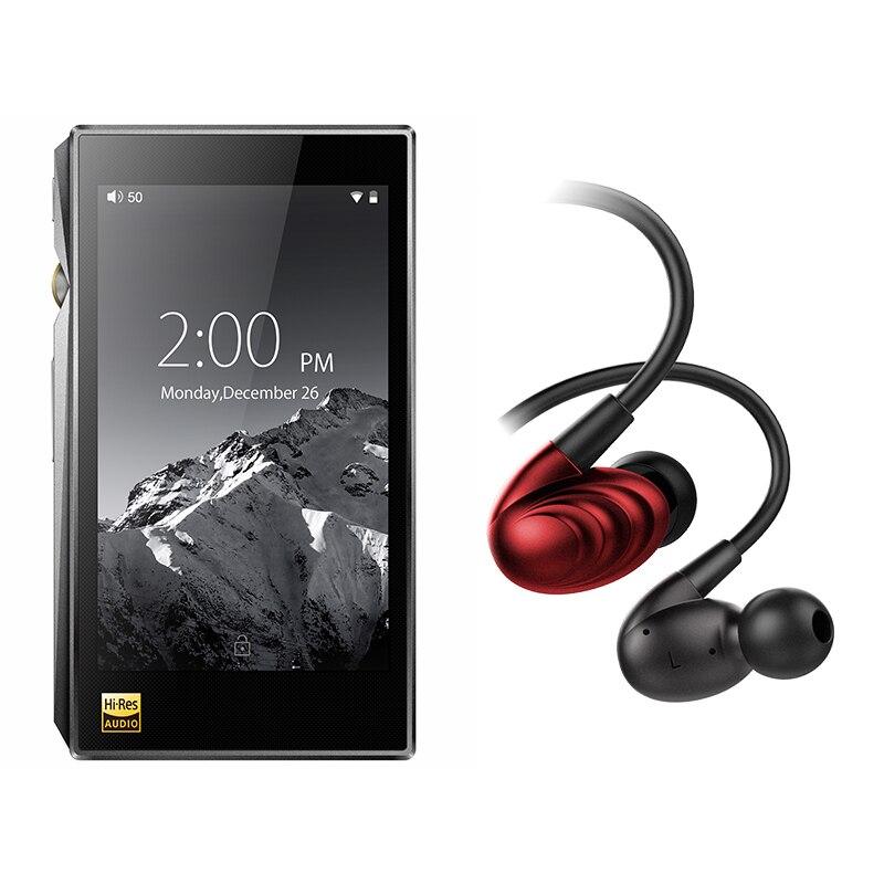 Paquete de venta de FiiO portátil Hi-Res reproductor de música X5 MKIII con FiiO Triple conductor híbrido los auriculares en la oreja de F9SE
