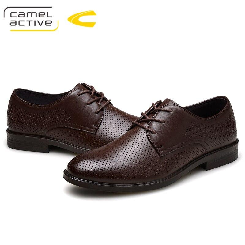 Camel Hombre Agujeros Negro Venta marrón Hombres Primavera Auténtico Para Otoño Diseño Active Caliente Cuero Zapatos Transpirable Calzado Masculinos Sapatos Negocios qXzrwqxf
