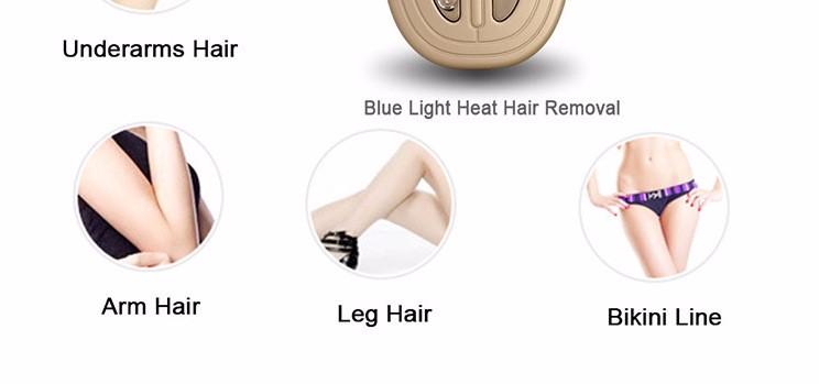 100V-240V LCD Electric Thermal Hair Removal Instrument Women\'s Epilator USB Charging2
