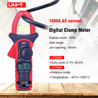 UNIT UT205A/UT206A Auto Range 1000A Digital Clamp Meters Multimeters Voltmeter with LCD Backlight High current clamp meter