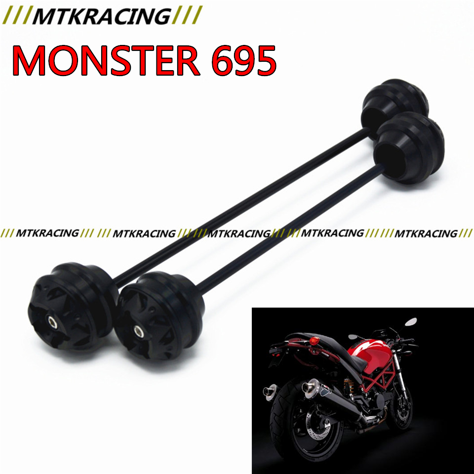 Free shipping For Ducati MONSTER 695 2007-2008 CNC Modified Motorcycle Front and rear wheels drop ball / shock absorber aftermarket free shipping motorcycle parts eliminator tidy tail for 2006 2007 2008 fz6 fazer 2007 2008b lack