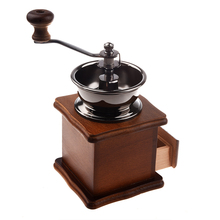 цена на Manual Coffee Grinder Coffee Bean Mill Retro Style Wood Wooden Nut Pepper Seeds Spice Mini Grinder For Home High Quality Gift