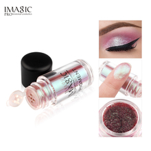 купить IMAGIC Makeup Eyeshadow Loose Pigment Shadows Eye Mineral Powder Metallic discoloration Loose Glitter Eyeshadow Color Makeup онлайн