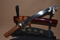 Samurai Japanese Short Sword Tanto Handmade Custom Blade Sharp 1095 High Carbon Steel Alloy Tsuba Real Rayskin Handle Knife Sale