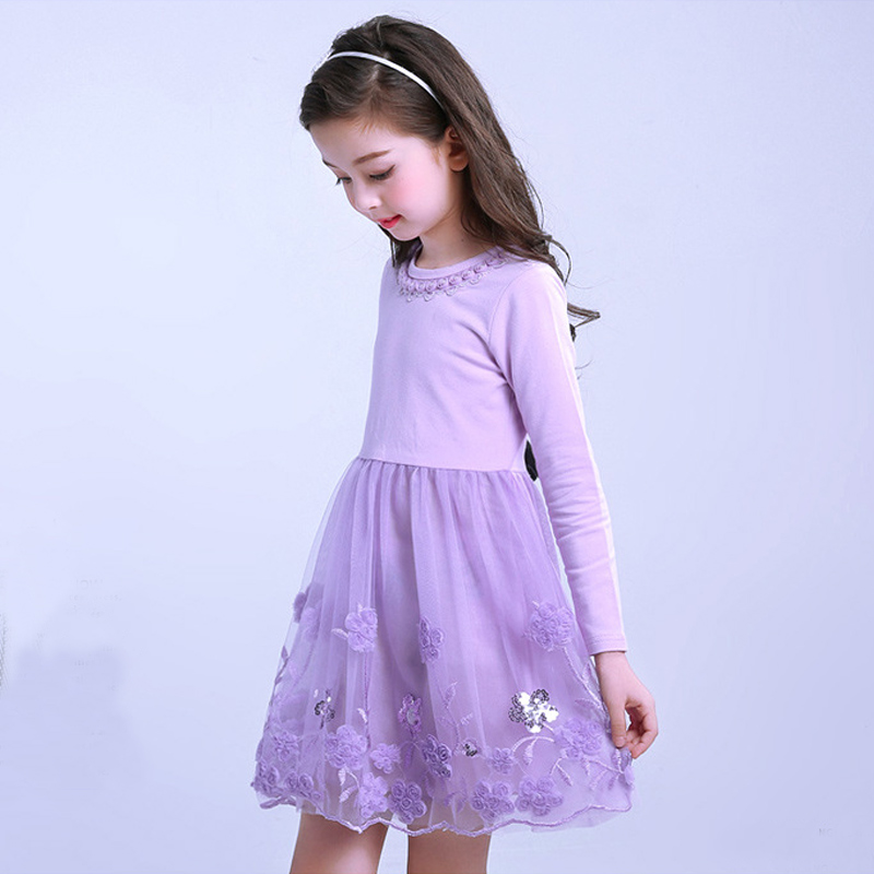 Flower Girl Dress Children Bridesmaid Toddler princess Elegant party ...