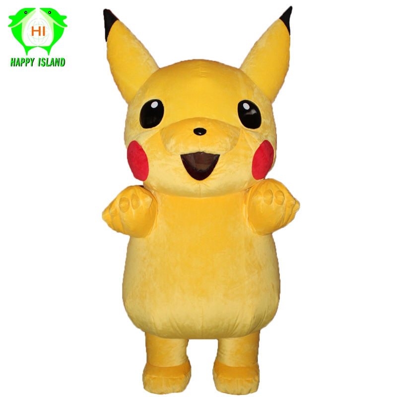 2019 New Pikachu Inflatable Mascot Costumes Halloween Party Cosplay Costume Performance Cartoon Costume for 1.65 2M Adult-in Anime Costumes from Novelty & Special Use    1