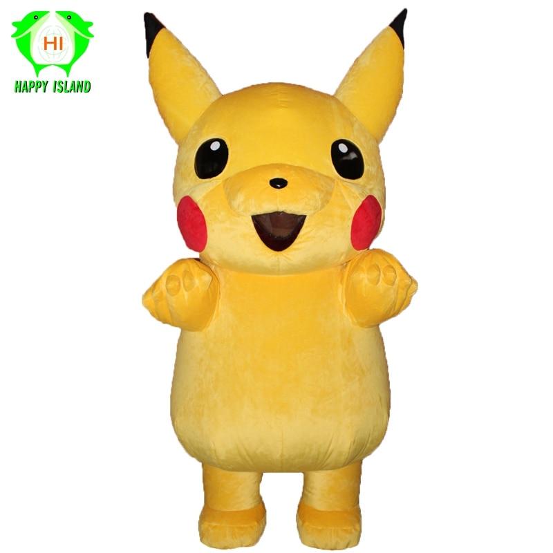 2019 Nieuwe Pikachu Opblaasbare Mascotte Kostuums Halloween Party Cosplay Kostuum Prestaties Cartoon Kostuum Voor 1.65-2 M Volwassen