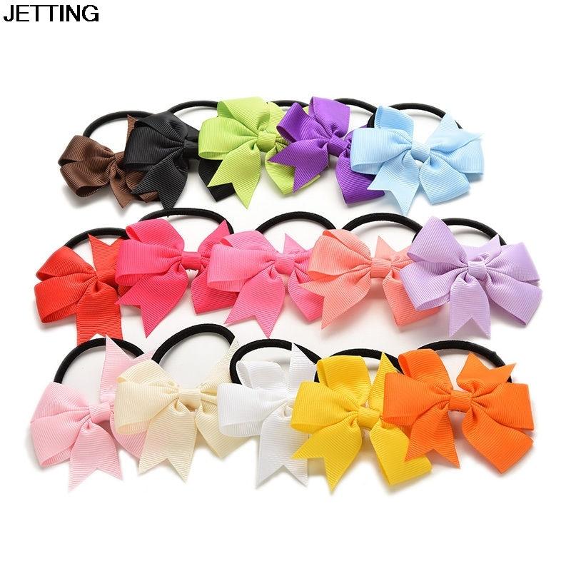 15pcs/lot Girl Elastic Hair Bands PonyTail Holder Hair Bow Headband Hairband for NewbornHair Accessories