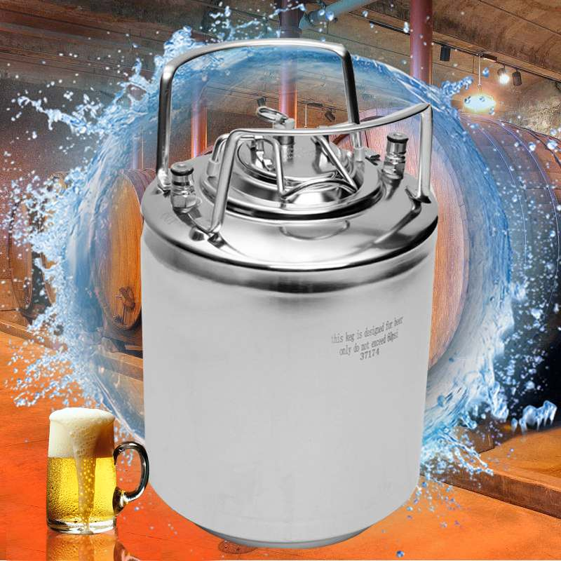 6/10/20L Stainless Steel Ball Lock Beer Keg Growler for Craft Beer Dispenser System