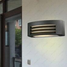 5W/7W LED Outdoor Waterproof Wall Sconce Light E27 Bulb Lamp Fixture Basement Garden Door Balcony Black Finish