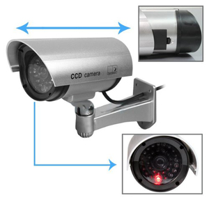 Image 5 - Mool Bộ 4 Camera Giả Camera Giả Giả Camera Quan Sát An Ninh Giám Sát Ngoài Trời Với Đèn LED Màu Đỏ Bạc