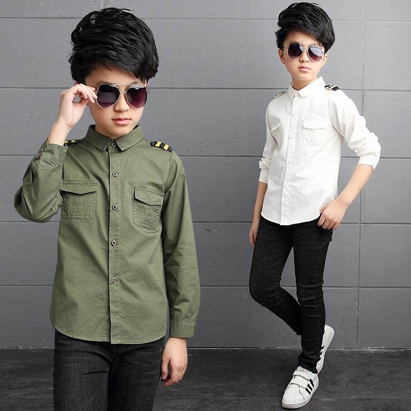 Children Boys School-Uniform Shirts