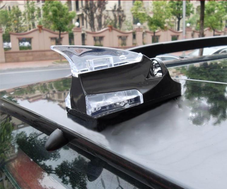 White Car Roof Shark Fin Antenna Decorative Trim for Audi Q7 2011-2015