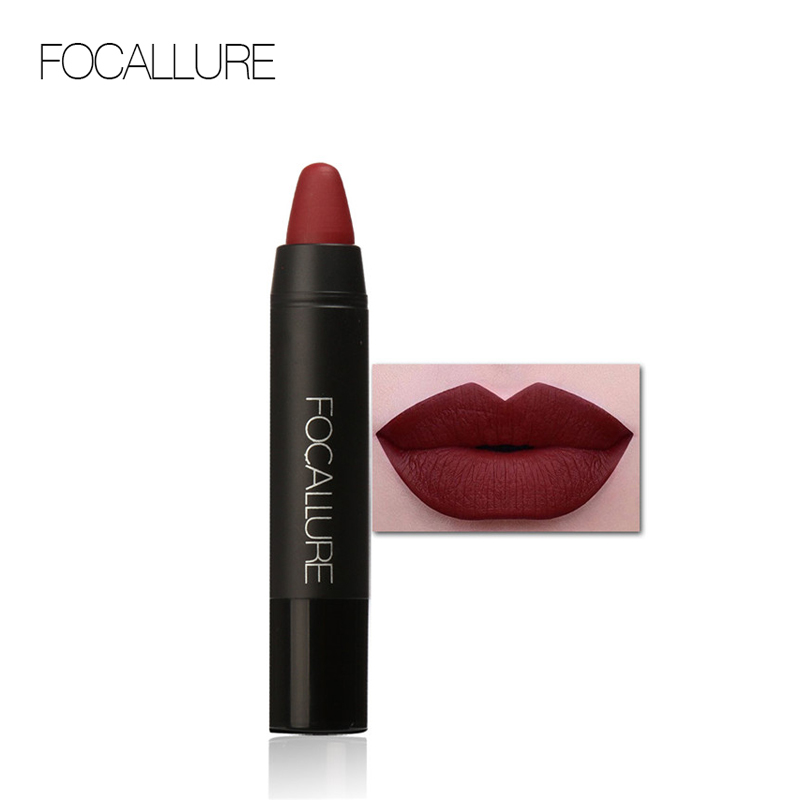 FOCALLURE 24 Colors Lip Stick Moisturizer Lipsticks Waterproof Long-lasting Easy to Wear Cosmetic Nude Makeup Lips