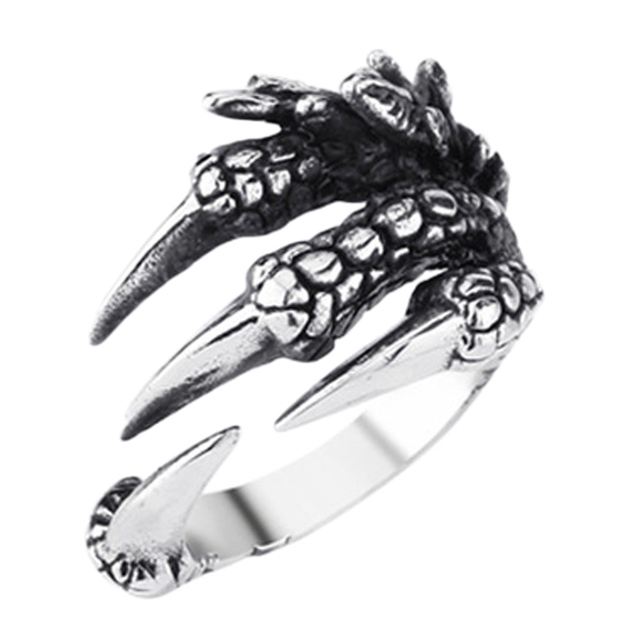 2017 New Personalized Punk Rock rings Stainless Steel Mens Biker