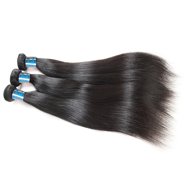 Peruvian Straight Virgin Human Hair Extensions Double Weft 3pcs Lot