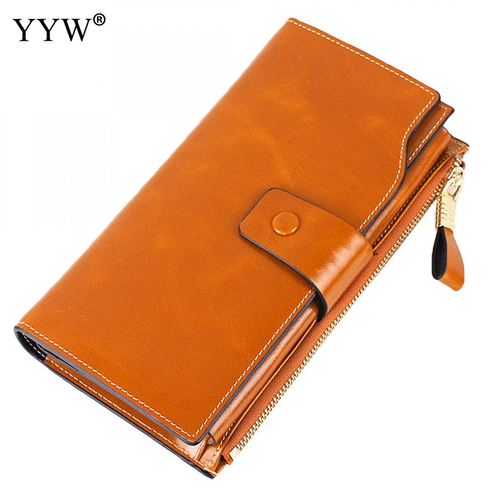 YYW 2017 New Women Wallets Genuine Leather Soft Long Design Clutch Cowhide Wallet Multi-color High Quality Fashion Female Purse