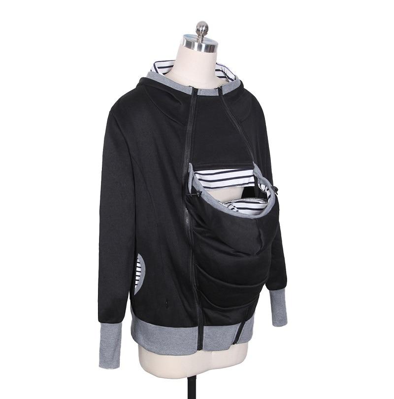 Women Sweatshirts Baby Carrier Wearing Hoodies Three Features Zipper Coat Kangaroo Hoodie Parenting Clothing Mother WS4668M