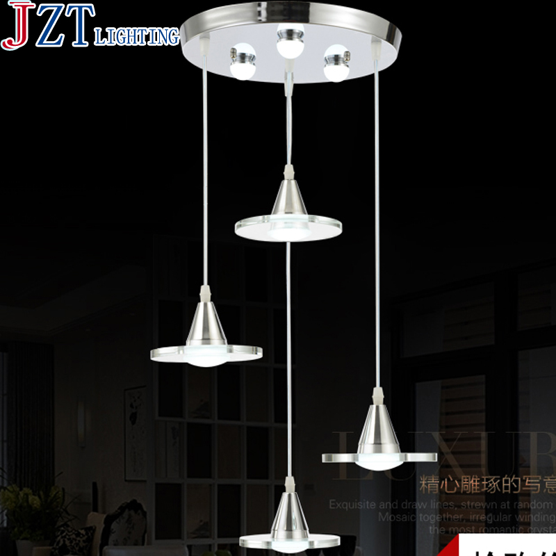 M Led Restaurant Crystal Dia30cm Pendant Lighting Modern Minimalist Three Or Four Head Creative Personality Dining Room Lamp ring led minimalist european round pendant lamp three creative head table lamp crystal restaurant dining pendant light ta10173