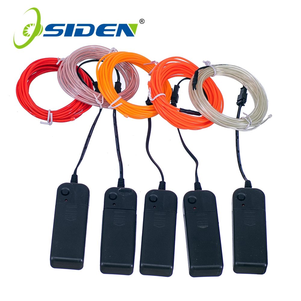 3V Neon Light Glow <font><b>El</b></font> String Flexible Wire Rope Tube Waterproof LED 1m 3m/5 for Decorations in party <font><b>Car</b></font> Garments +<font><b>Controller</b></font> image
