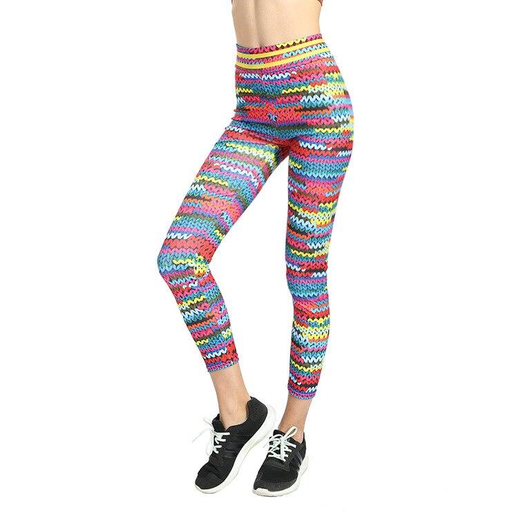 New Printed Yoga Sports Leggings Hip High Waist Women Slim High Waist Sports Leggings Yoga Pants Gym Fitness Elastic Trousers 12