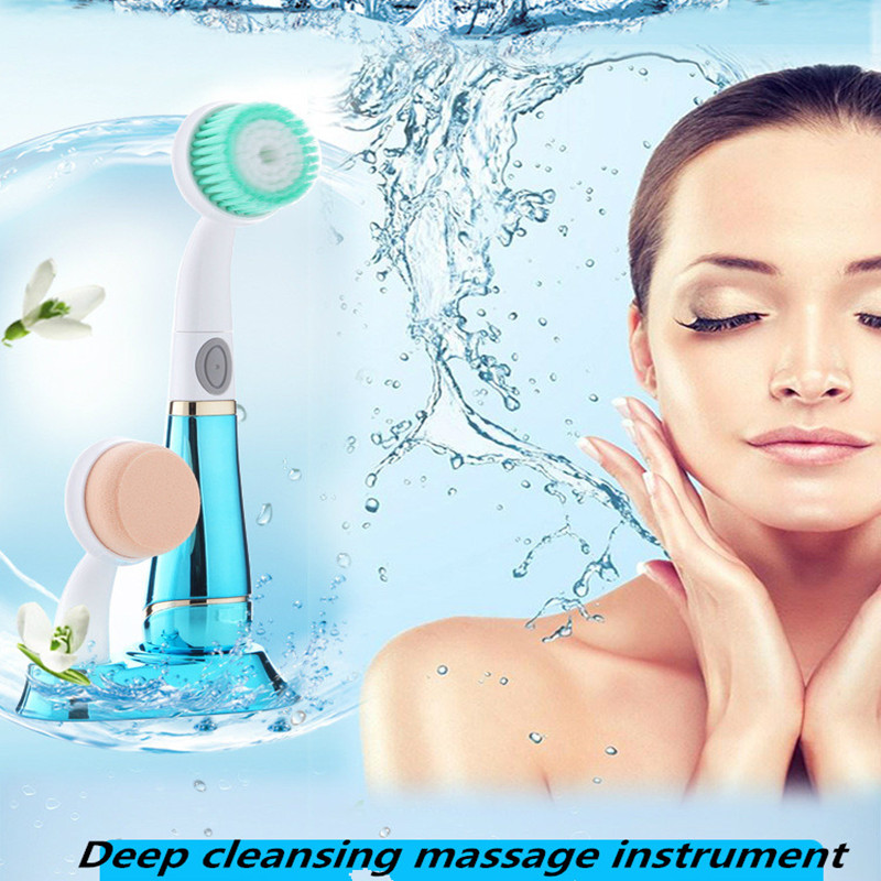 Wash your face and brush with an electric massage facial cleanser and wash your face and face sonic cleansing brush cleanser wash your face wash your face massage instrument deep pores clean cleanser electric wash brush