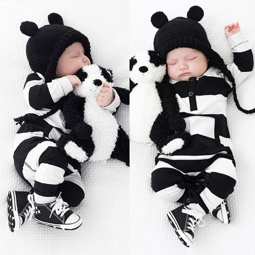 Rompers Lovely Infants Baby Girls Boys Clothes Long Sleeve Striped Pocket Rompers Outfits Autumn 0-3Y