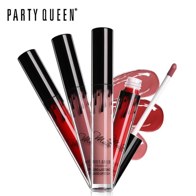 Party Queen Long Lasting Comfortable Ultra Matte Liquid Lipstick Makeup Moist No Transfer Smooth Intense Waterproof Lip Gloss