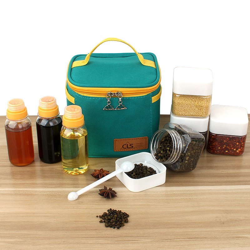 Image 3 - VILEAD Outdoor Camping Tableware Storage Container Spice Jar Seasoning Box Portable Oil Bottle For Picnic Outdoor BBQ Camping-in Camping Cookware from Sports & Entertainment