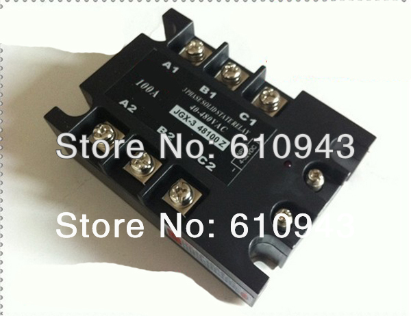 JGX-3-48100Z 100A 40-480VAC 4-32VDC  DC to AC  Three phase Solid state relay SSR relay Free shipping jgx 3 4860z 60a 40 480vac 4 32vdc dc to ac three phase solid state relay ssr relay free shipping