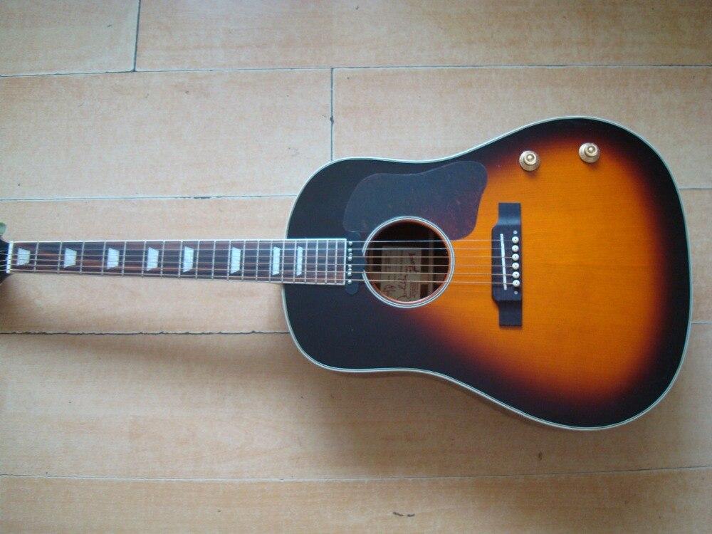 buy new vintage sunburst acoustic guitar with pickup hollow body good wood high. Black Bedroom Furniture Sets. Home Design Ideas