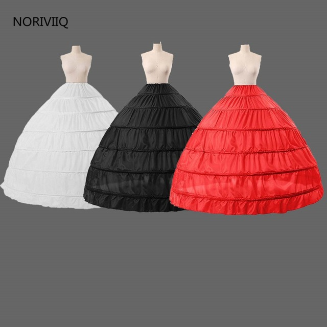 Fotos reales de Largo 6 Aro Enaguas 3 Colores Faldas De Crinolina Enaguas del vestido de Bola de La Muchacha Vestido de Deslizamiento 2017 NORIVIIQ 005
