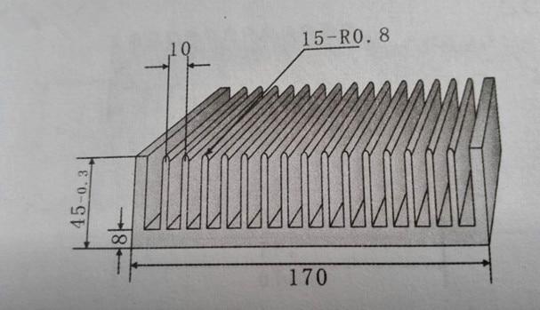 Free Ship High power radiator 170*45*100mm Heatsink width 170mm,high 45mm,length 100mm any custom processing aluminum heat sink
